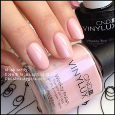 CND Vinylux Blush Teddy - Flora & Fauna Collection Spring 2015. Complete collection swatches @ www.imabeautygeek.com