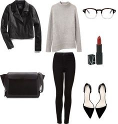 For Fall by agentlewoman featuring a leather jacket