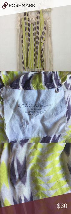 Acacia dress arrows Previously loved, a couple fuzzies shown acacia swimwear Swim