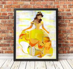 Hey, I found this really awesome Etsy listing at https://www.etsy.com/listing/544993959/beauty-and-the-beast-art-print-belle