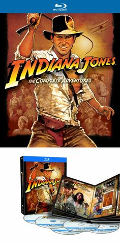 Indiana Jones: The Complete Adventures (Raiders of the Lost Ark / Temple of Doom / Last Crusade / Kingdom of the Crystal Skull) [Blu-ray] - Own all four Indiana Jones adventures in this Blu-ray collection.  This collection includes: Indiana Jones and the Raiders of the Lost Ark, Indiana Jones and the Temple of Doom, Indiana Jones and the... - All Products - DVD - $38.93