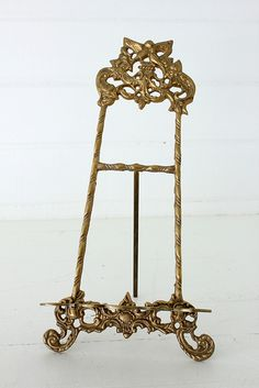 easel, gold ornate