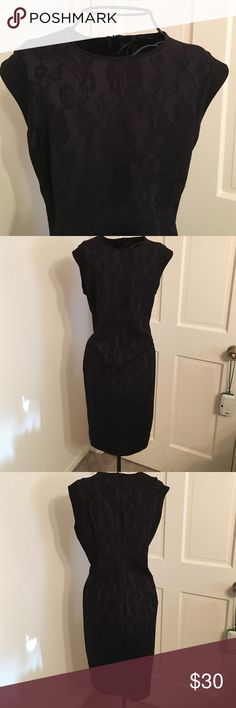 Stile Benetton lace dress! NWT This dress has black lace over dark dark navy blue new with tags from store in Dallas in the galleria amazing very classy Stile Benetton Dresses