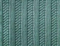 Lots of simple knit & purl stitch patterns. This one's seed stitch ribs. Knit Purl Stitches, Knitting Stiches, Knitting Charts, Easy Knitting, Loom Knitting, Knitting Patterns, Crochet Patterns, Knitting Projects, Moss Stitch
