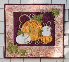 PUMPKIN PATCH WALL QUILT PATTERN | Keepsake Quilting; would also work well as a table topper