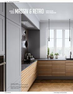 Kitchen Room Design, Home Decor Kitchen, Kitchen Living, New Kitchen, Home Kitchens, Nordic Kitchen, Minimal Kitchen, Kitchen Countertops, Kitchen Cabinets