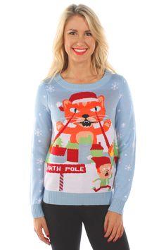 Women_s_laser_cat_sweater__ Cat Christmas Sweater Christmas Jumpers Christmas Cats Funny Christmas Christmas Decor