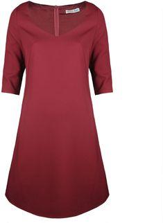 Fracomina FR16FP615 Bordowy - Rochii Femei - Rochii de Zi Femei Short Sleeve Dresses, Dresses With Sleeves, Cold Shoulder Dress, Stuff To Buy, Fashion, Moda, Sleeve Dresses, Fashion Styles, Gowns With Sleeves