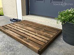 Wooden Doormat - Sawdust 2 Stitches