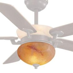 Mediterranean Aged Bronze Ceiling Fan Bottom Glass Bowl (Downlight) Replacement Glass Bowl-82392015459 - The Home Depot