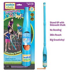 Walkie Chalk Stand-Up Sidewalk Chalk Holder - Teal - Creative Outdoor Toy for Kids and Adults! Cool Presents, Cool Gifts, Best Gifts, 7 Year Old Christmas Gifts, Chalk Holder, Outdoor Toys For Kids, 10 Year Old Girl, Tween Girl Gifts, Cool Toys For Girls