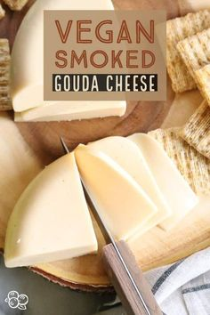 Make your own fantastic vegan smoked Gouda cheese with just a few ingredients and . - Recipes & DIY - Make your own fantastic vegan smoked Gouda cheese with just a few ingredients and … – - Gouda Cheese Recipes, Smoked Gouda Cheese, Gouda Recipe, Dairy Free Recipes, Vegan Recipes, Cooking Recipes, Cooking Kale, Gluten Free, Vegan Foods
