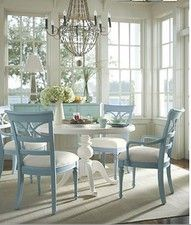 painted blue chairs