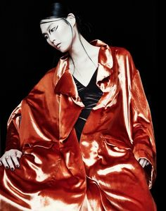 SWAN for CAUSE magazine  with Mily  Serebrenik Red Leather, Leather Jacket, Paris France, Swan, Magazine, Makeup, Photos, Jackets, Fashion