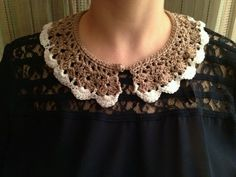 Peter Pan crochet collar front @Rosa Murcia  Http://rosablogstyle.blogspot.com.es