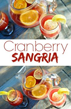 Cranberry Sangria.  Great Summer drink!