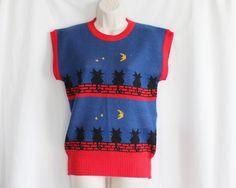 Vintage Sweater Vest Size 5 Vicky Vaughn Junior by ThirdHandShoppe