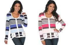 Cute Striped Cardigan - Sizes S-2XL! 79% off at Groopdealz