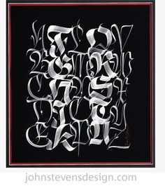 Gothic | Brush Fractur by John Stevens, via Behance