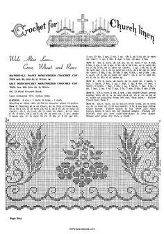 Lily altar filet crochet - Αναζήτηση Google