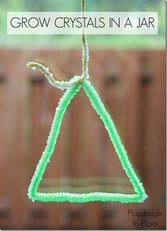 How to Grow Crystals in a Jar   #kidscience #preschoolscience