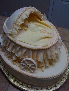 vintage baby cakes   Baby shower cake - by Tetyana @ CakesDecor.com - cake decorating ...