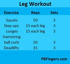 Leg Workout from #pbfingers.