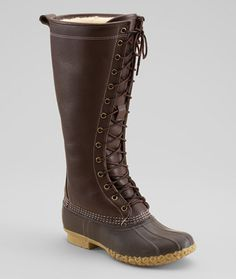 Signature Women's L.L.Bean Boot, Shearling-Lined: Footwear. So sad I missed these! Hopefully they'll bring them back next fall! :(