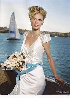 KAREN WILLIS HOLMES - Wedding dress - Sasha. From Sydney Bride magazine. Image Peter Collie.