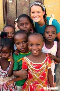 """""""I just like to smile, smiling's my favorite"""" - Buddy (Elf)    Thanks to Olivia Morgan for sharing this adorable picture from her time #volunteering in #Tanzania. #teamUP #NationalVolunteerMonth"""