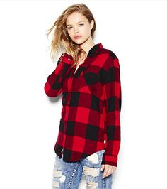 buffalo check plaid but with black leggings and boots Plaid Flannel, Red Plaid, Flannel Shirt, Pretty Outfits, Cute Outfits, Black Leggings, Boyfriend, Fashion Looks, My Style