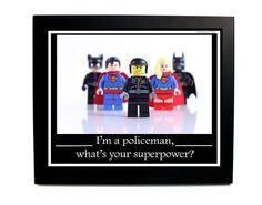 Policeman Gift Photography Print LEGO® by SnappyBrickPhotos