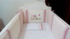 Nursery Quilt Bedding Set  #kit de berço com aplicação bordado à mão e detalhes em seminole - projeto personalizado