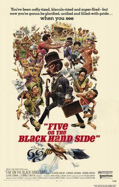 Jack Davis - Five on the Black Hand Side movie poster.