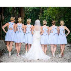 Lauren James Seersucker dresses for bridesmaids