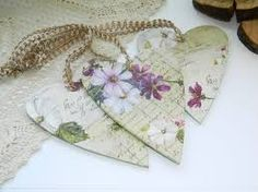 Image result for shabby chic heart decorations