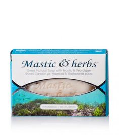 """Natural soap for every skin type with mastiha & seaweed, from Chios""""Anemos"""" Seaweed Soap, Pure Soap, Chios, Natural Cosmetics, Greek, Herbs, Pure Products, Nature, Naturaleza"""