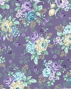 Vintage Flowers Wallpaper, Flowery Wallpaper, Love Wallpaper, Pattern Wallpaper, Wallpaper Backgrounds, Vintage Floral Wallpapers, Decoupage Vintage, Vintage Paper, Impression Textile