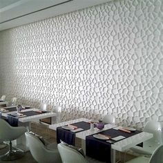 3D Wall Flat Hive.  Lightweight environment friendly wall tile.  Hangs directly to drywall using tile mastic, Velcro or double stick tape.  The 3D wall tiles are paintable and easily trimmed using standard cutting tools.  Free shipping!