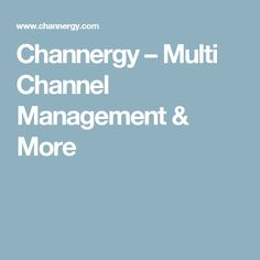 Channergy – Multi Channel Management & More Software, Channel, Management, Modern, Trendy Tree