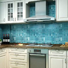 yazi Mosaic Kitchen Bathroom Unit Cover PVC Contact Paper Wallpaper Wall Sticker