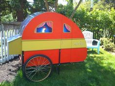 Gotta love a chicken coop that was a vintage teardrop trailer in a previous life.  I can't decide if that's upcycling or not!