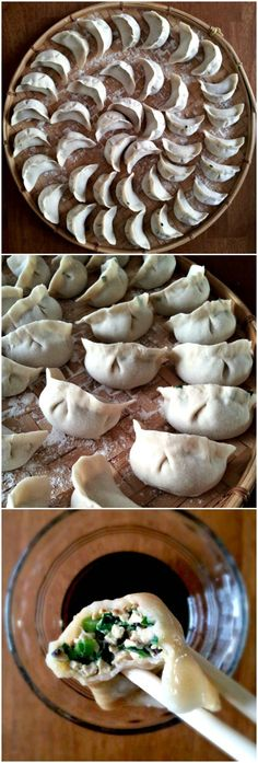 Veggie dumplings - healthy and homemade. Step by step tutorial in the post! // This recipe is delicious! But for the dough I had to add like 2 glasses more flour than the indicated on the post because it was too liquid all the time. And they really float when they are cooked! Dipped in soy sauce this food is yummy.