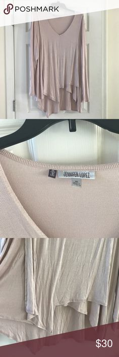 NWT asymmetrical ballet pink Tunic Never worn/ Tunic/ ballet pink/ soft Jennifer Lopez Tops Tunics