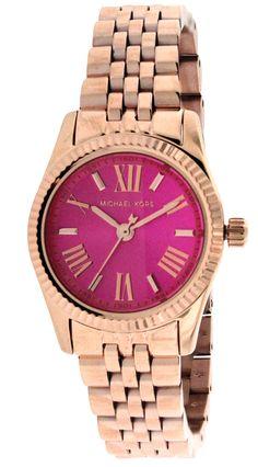 Michael Kors MK3285 Lexington Pink 26mm Rose Gold Steel Women's Watch