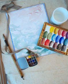 Watercolour Travel Locket by FineMiniatureArts on Etsy