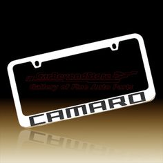 Camaro Carbon Fiber Word License Frame - Custom Made - Officially Licensed Product - $25.95