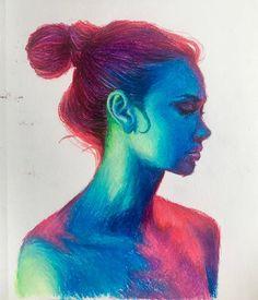 Colorburst, Me, Oil Pastels, 2020 - Art Chalk Pastel Art, Pastel Artwork, Oil Pastel Paintings, Oil Pastel Art, Oil Pastel Drawings, Chalk Pastels, Crayon Art, Pencil Art Drawings, Cool Drawings