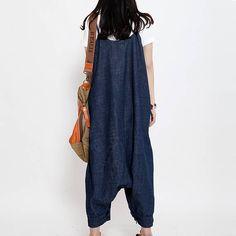 Women Denim Jumpsuits Cotton Overalls Pants With Pockets