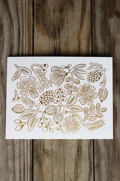 Gold Botanical Patte